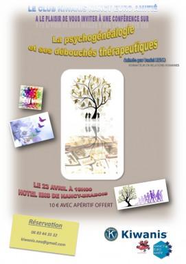 Flyer-psychogénéalogie, KIWANIS NANCY