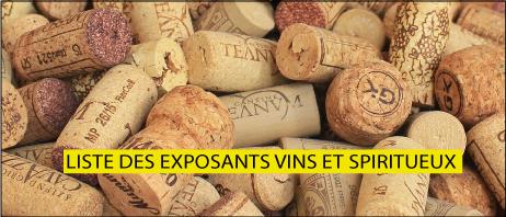 Exposants vins et Spiritueux